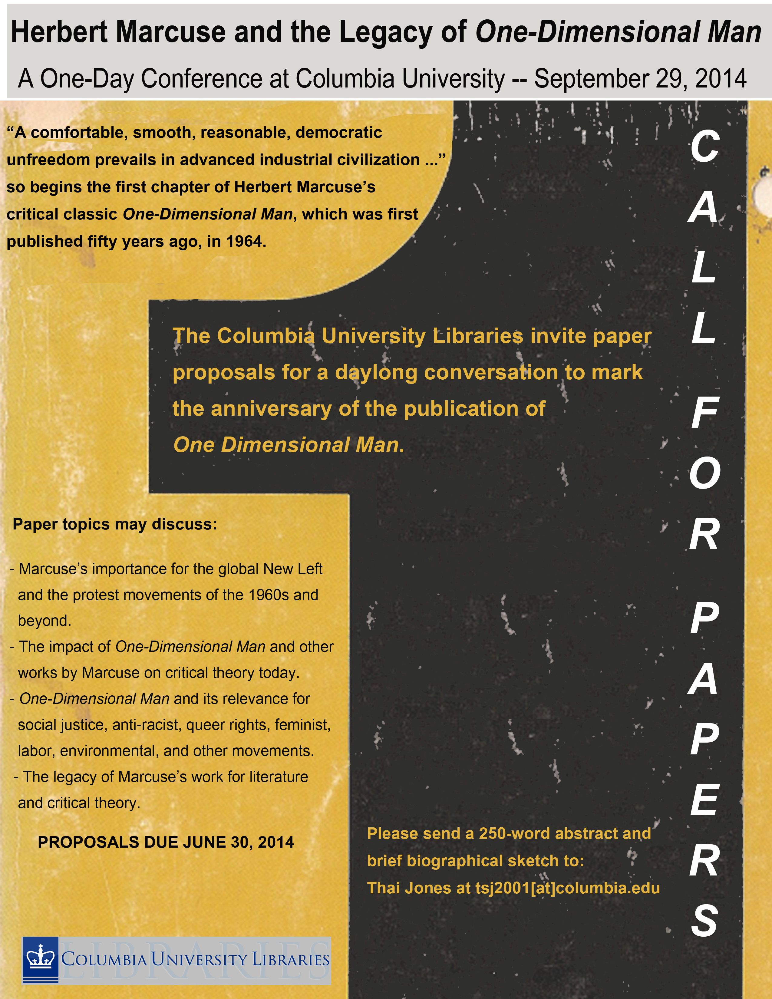 CALL FOR PAPERS (deadline: June 30, 2014)