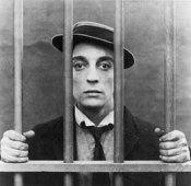 BUSTER KEATON behind bars